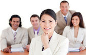 Charismatic Asian businesswoman in a meeting — Stock Photo