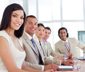 Young business having a meeting — Stock Photo