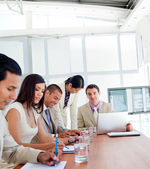 Positive business having a meeting — Stock Photo