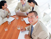 Self-assured business in a meeting — Stock Photo