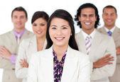 Presentation of an international business team — Stock Photo