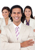 Portrait of a manager and his team — Stock Photo