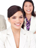 Portrait of a beautiful businesswoman and her team — Stock Photo