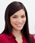 Close-up of a beautiful businesswoman — Stock Photo