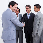 Business greeting each other — Stock Photo