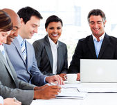 A diverse business group in a meeting — Stock Photo