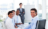 Business group showing ethnic diversity — Stock Photo