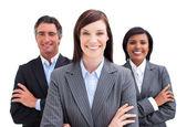 Fortunate business team — Stock Photo