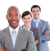Porträt der positiven Geschäftsentwicklung-team — Stockfoto
