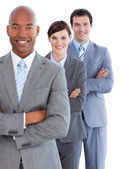 Portrait of young business team — Stock Photo