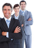 Portrait of assertive business team — Stock Photo