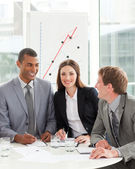 Business partners smiling at the camera — Stock Photo