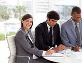 Attractive Businesswoman in a meeting — Stock Photo