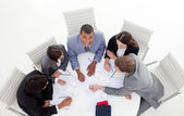 High angle of a business group sitting around a conference — Stock Photo