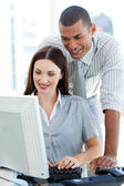 Young colleagues working together — Stock Photo