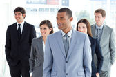 Portrait of a positive business team — Stock Photo