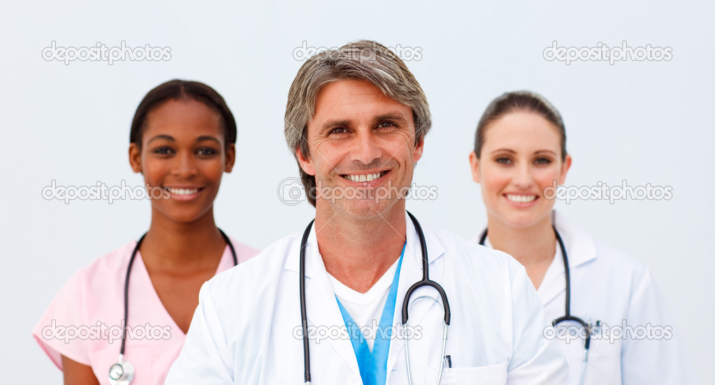 Portrait of a charismatic medical team  — Stock Photo #10282798
