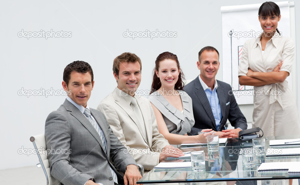 Business in a presentation listening to their colleague  Stock Photo #10286286