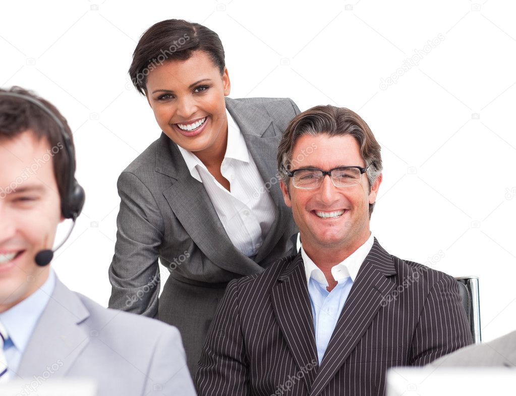 Enthusiastic business at work in the office — Stock Photo #10289072