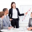 Assertive businesswoman giving a presentation — Stock Photo