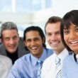 Stock Photo: A business group showing diversity smiling at the camera