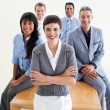 Confident manager with folded arms — Stock Photo