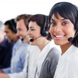 Charismatic customer service representatives with headset on — Stock Photo #10290261