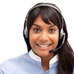 Female customer service representative — Stock Photo