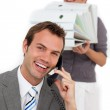 Businesswoman bringing a lot of work to her colleague — Stock Photo