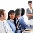Business showing ethnic diversity in a meeting — Stock Photo #10290521