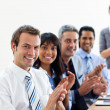 International business partners applauding a good presentation - Stock Photo