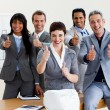 Successful business with thumbs up — Stock Photo #10290530
