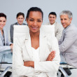 Happy Afro-American businesswoman in a meeting — Stock Photo #10290710
