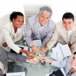Victorious business team celebrating success — Stock Photo #10290721