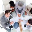 High angle of international architects in a meeting — Stock Photo