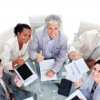 Successful multi-ethnic business team with in a meeting — Foto de Stock