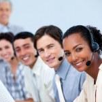 Charming customer service representatives — Stock Photo