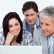 Confident business partners working at a computer — Stock Photo #10291091