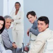 Smiling international business at a presentation — Stock Photo