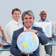 Presentation of an enthusiastic business team — Stock Photo