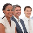 Happy Multi-ethnic business group at a presentation — Foto de Stock