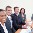 Business team talking in a meeting — Stock Photo #10292113