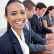 Portrait of an ethnic businesswoman in a meeting — Stock Photo #10292114