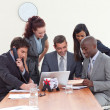 Stock Photo: Group of working in a business meeting