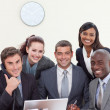 Group of smiling in a business meeting — Stock Photo