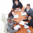 High Angle of happy business in a meeting — Stock Photo #10292173
