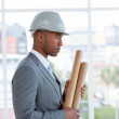 Portrait of a serious male architect — Stock Photo