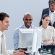Assertive business team working in the office — Stock Photo