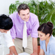 Confident business interacting — Stock Photo