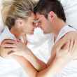 Stock Photo: Couple sleeping in bed